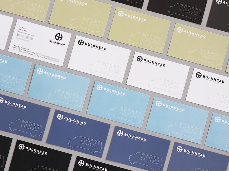 ロゴデザイン BULKHEAD 名刺デザイン 封筒デザイン