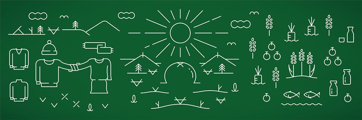 みらいいちば ロゴデザイン サインデザイン 壁面デザイン