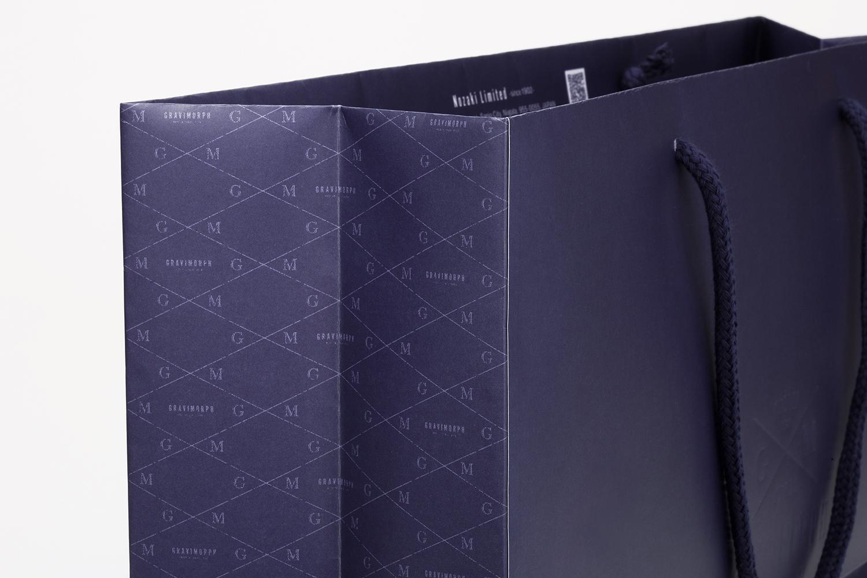 GRAVIMORPH グラビモルフ 包装紙デザイン 紙袋デザイン