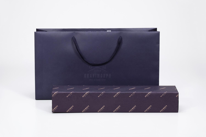 GRAVIMORPH グラビモルフ包装紙・紙袋デザイン