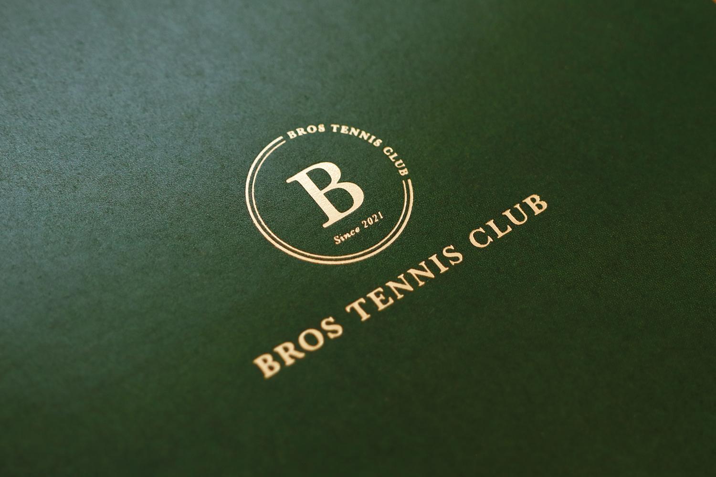ブロステニスクラブ パンフレットデザイン リーフレットデザイン